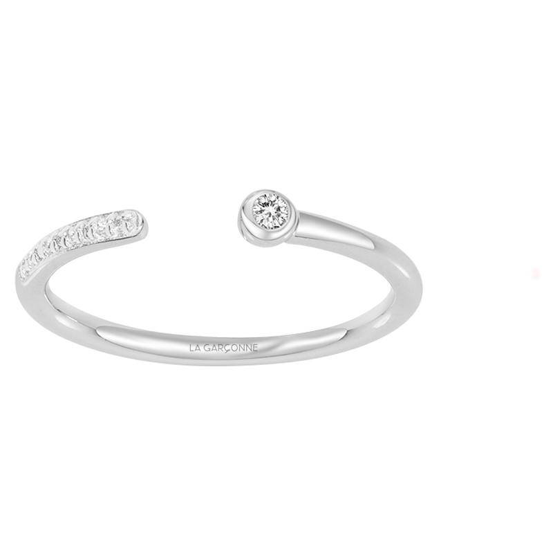 Bague « Lui et Moi » La Garçonne Diamant en Argent et Diamant