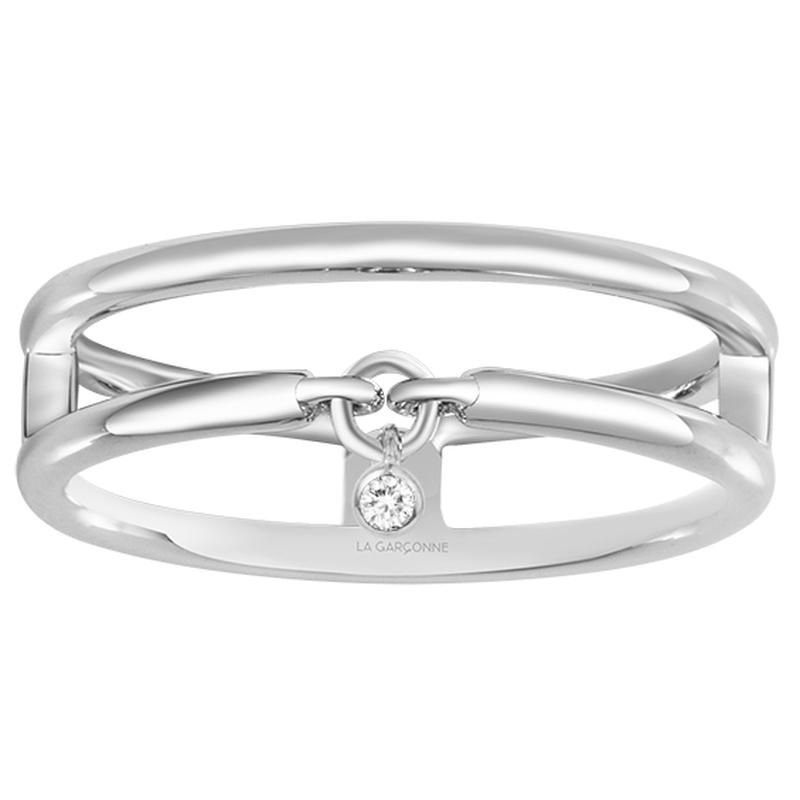 Bague « Optimiste » La Garçonne Diamant en Argent et Diamant
