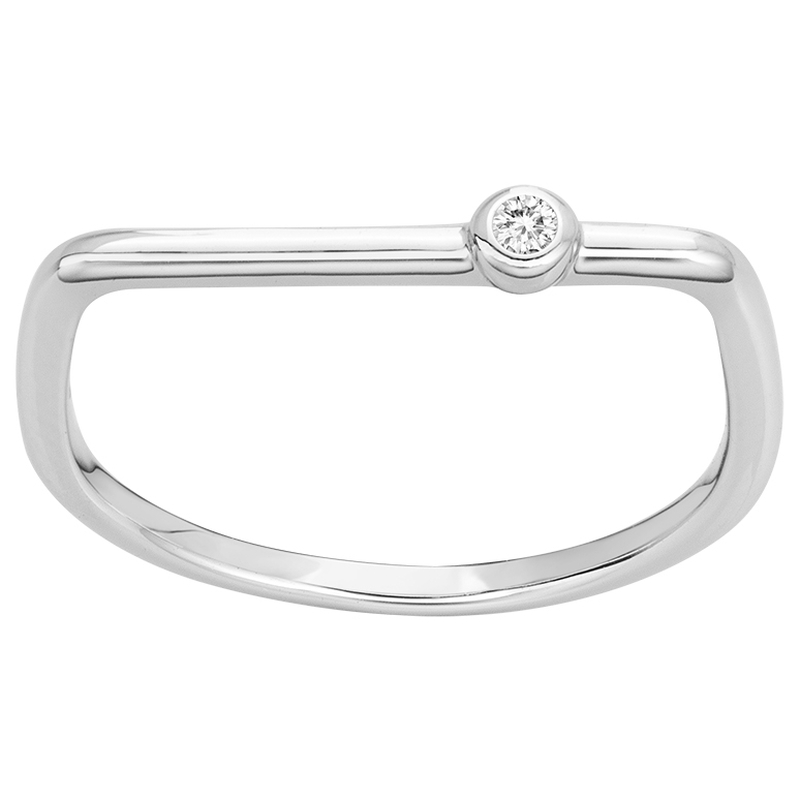 Bague « Funambule » La Garçonne Diamant en Argent et Diamant
