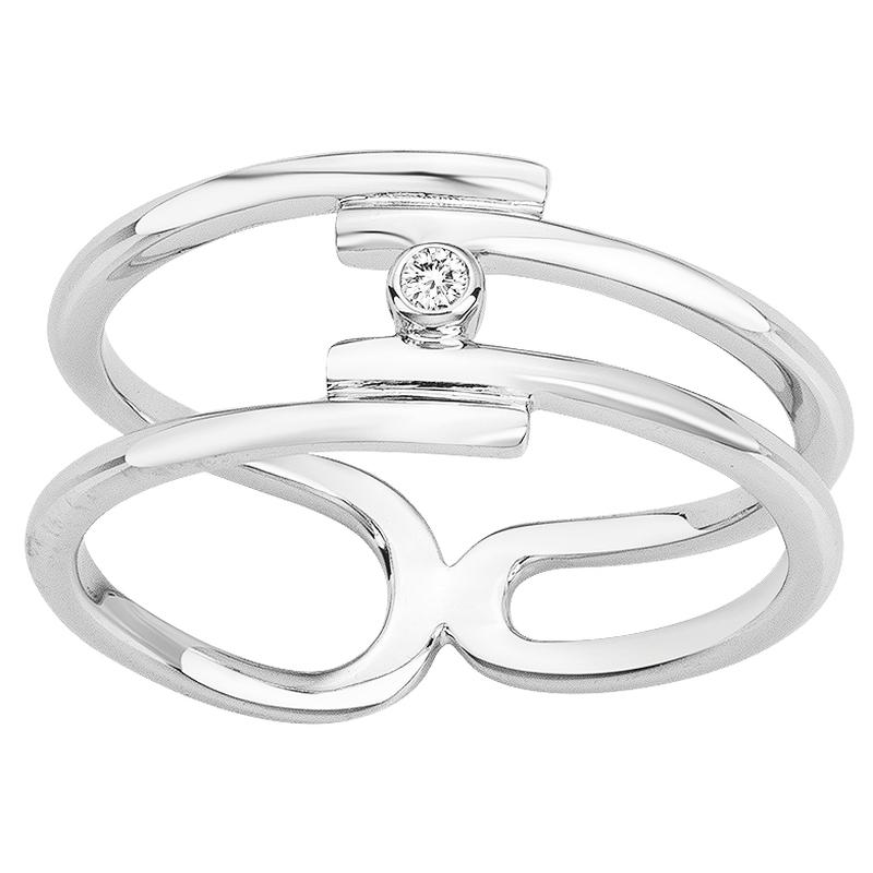 Bague « Évidence » La Garçonne Diamant en Argent et Diamant
