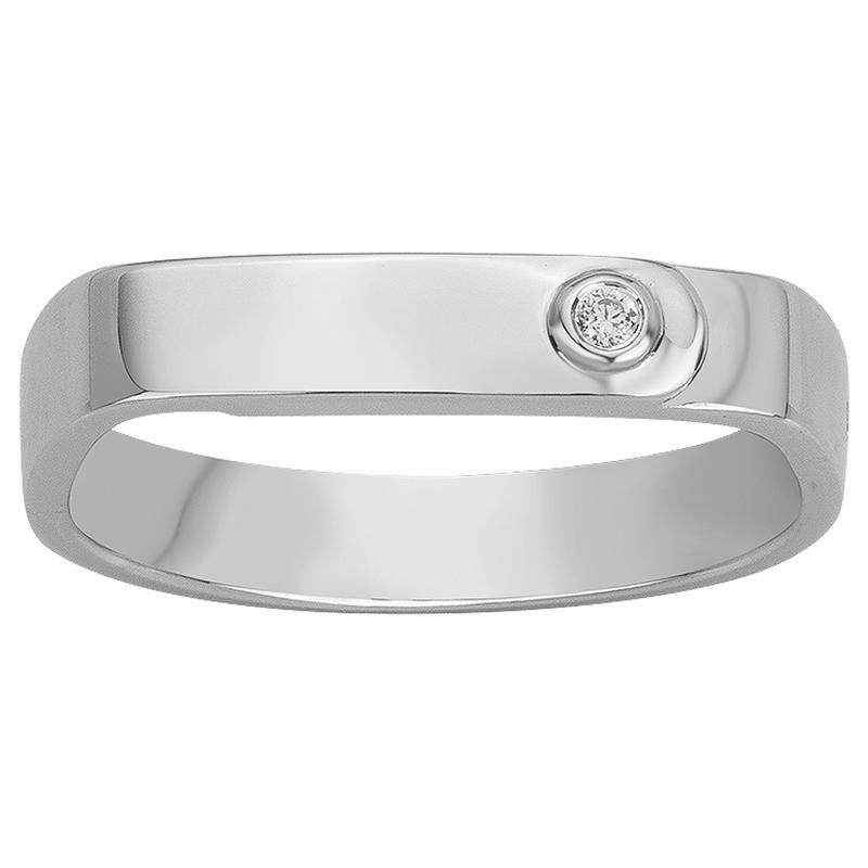 Bague « Ange Gardien » La Garçonne Diamant en Argent et Diamant