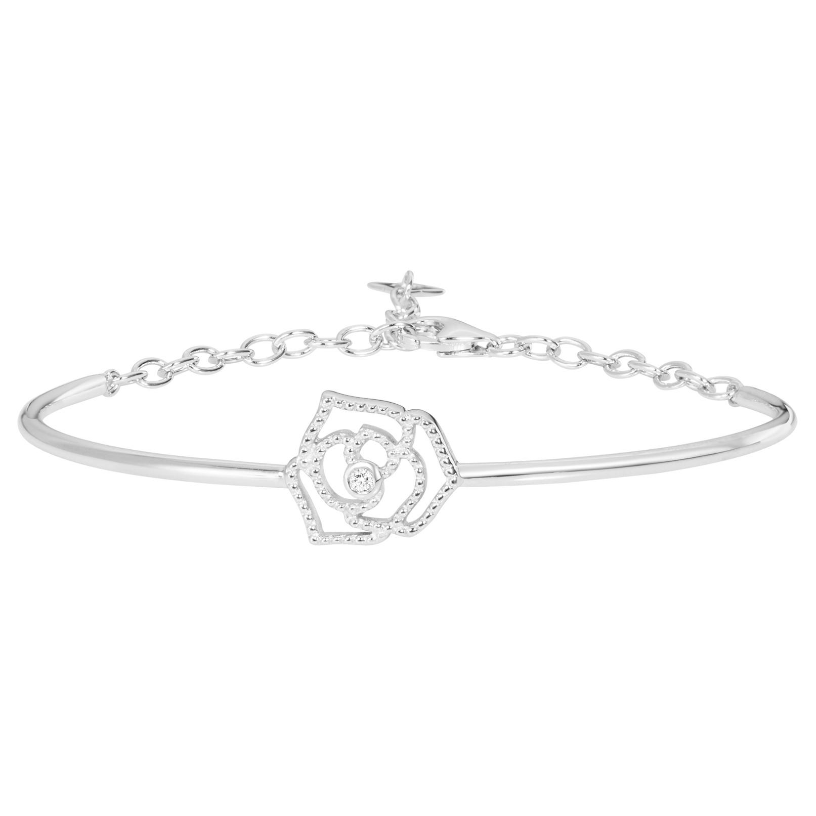 Bracelet « Rose Perlée » La Garçonne Diamant en Argent et Diamant