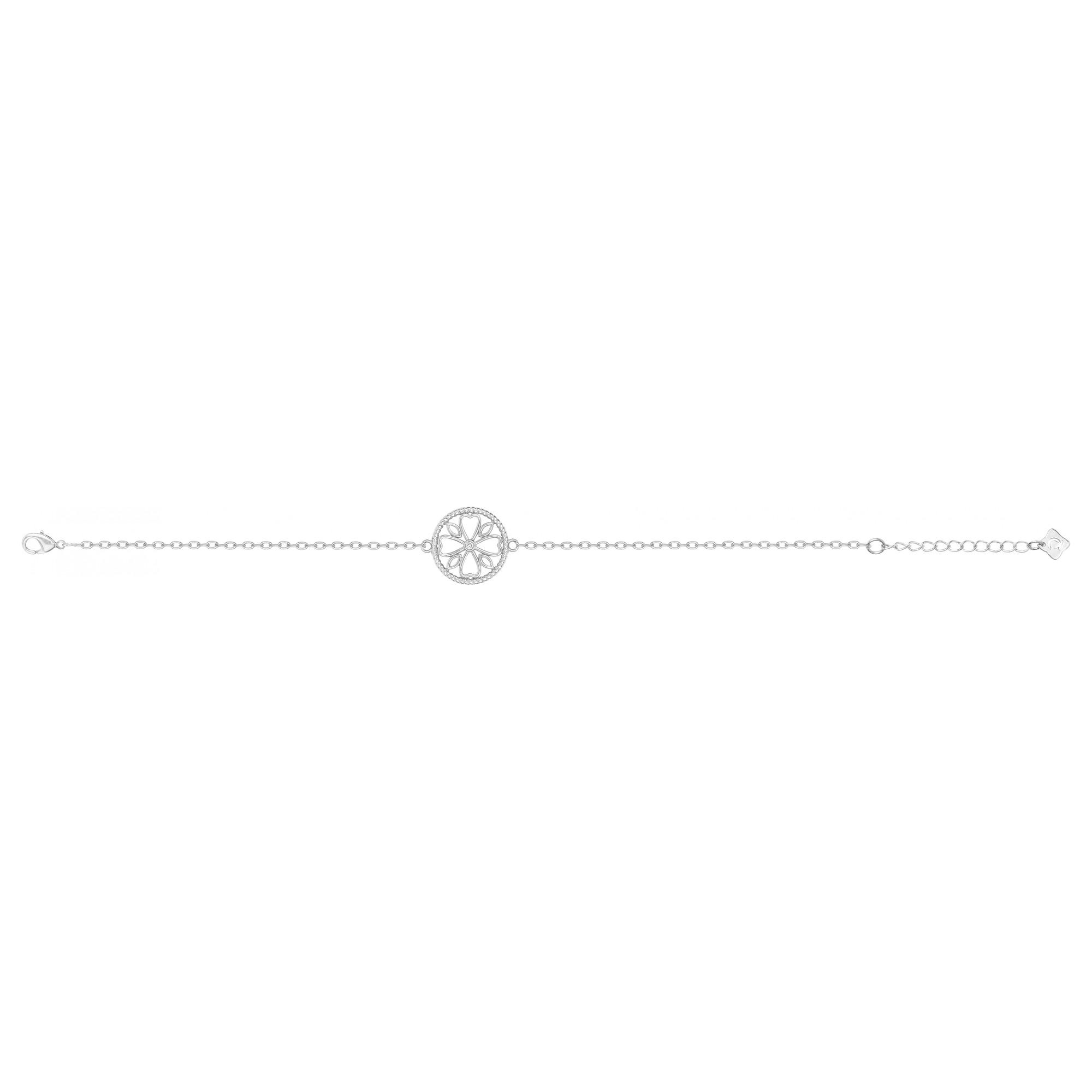 Bracelet « LE TREFLE » La Garçonne Diamant en Argent et Diamant
