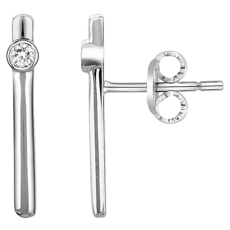 Boucles d'oreilles « Funambule » La Garçonne Diamant en Argent et Diamant