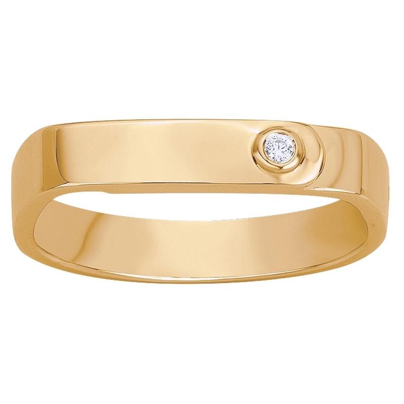 Bague « Ange Gardien » La Garçonne Diamant en Plaqué Or et Diamant
