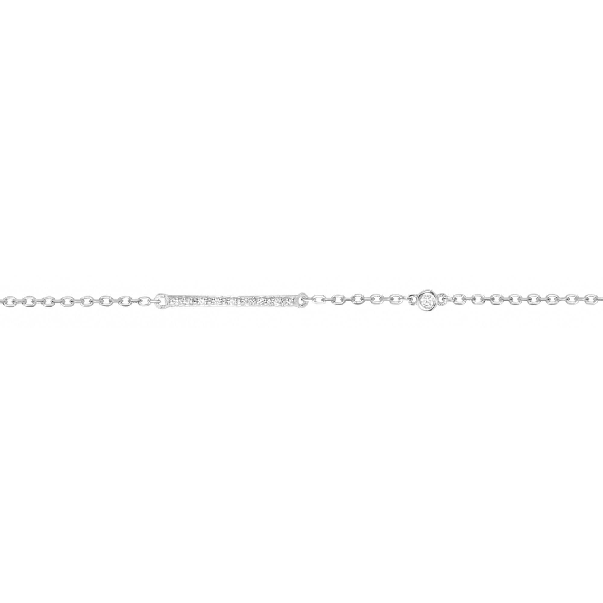 Bracelet « Lui et Moi » La Garçonne Diamant en Argent et Diamant