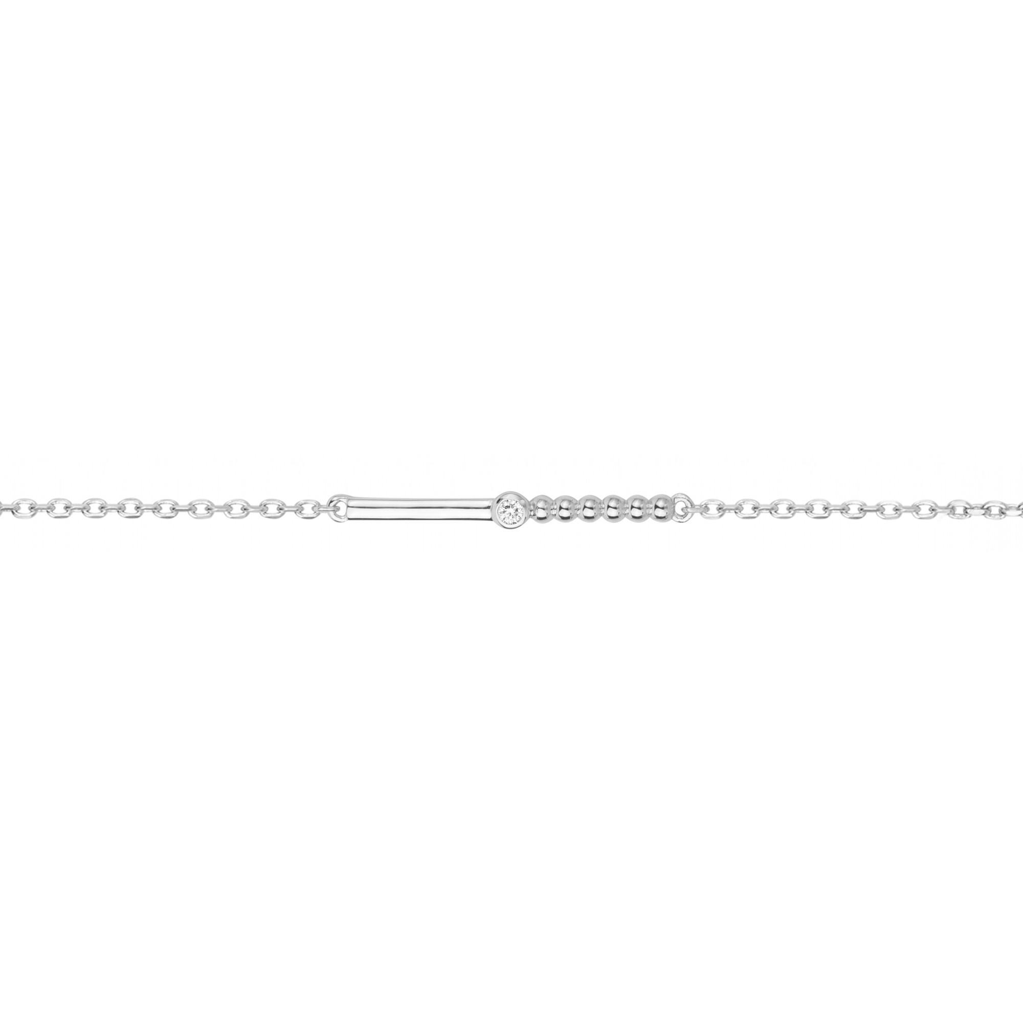 Bracelet « Indécise » La Garçonne Diamant en Argent et Diamant