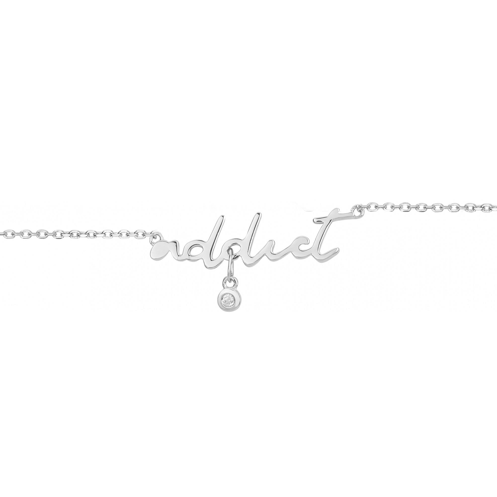 Bracelet « Addict » La Garçonne Diamant en Argent et Diamant