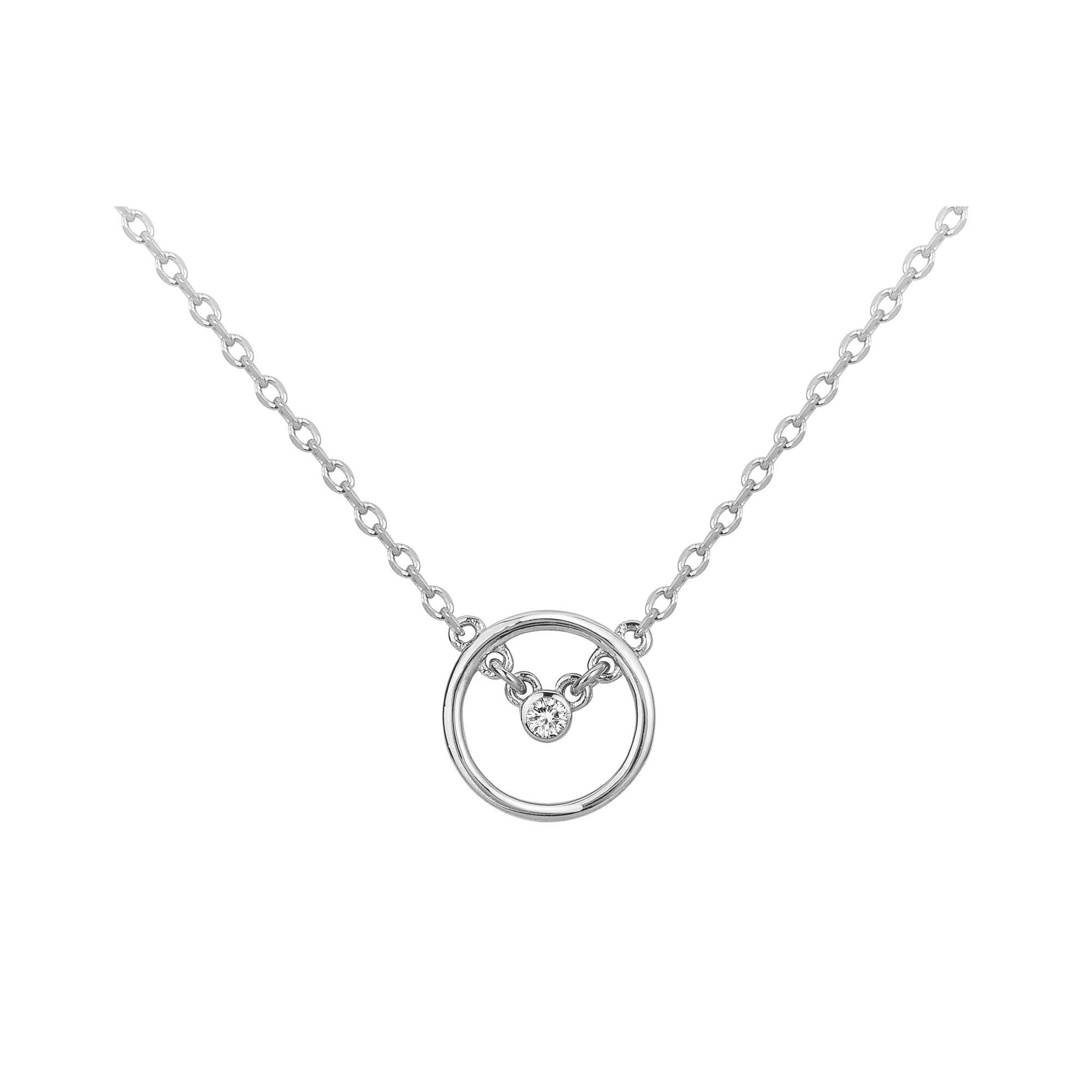 Collier « Angélique » La Garçonne Diamant en Argent et Diamant