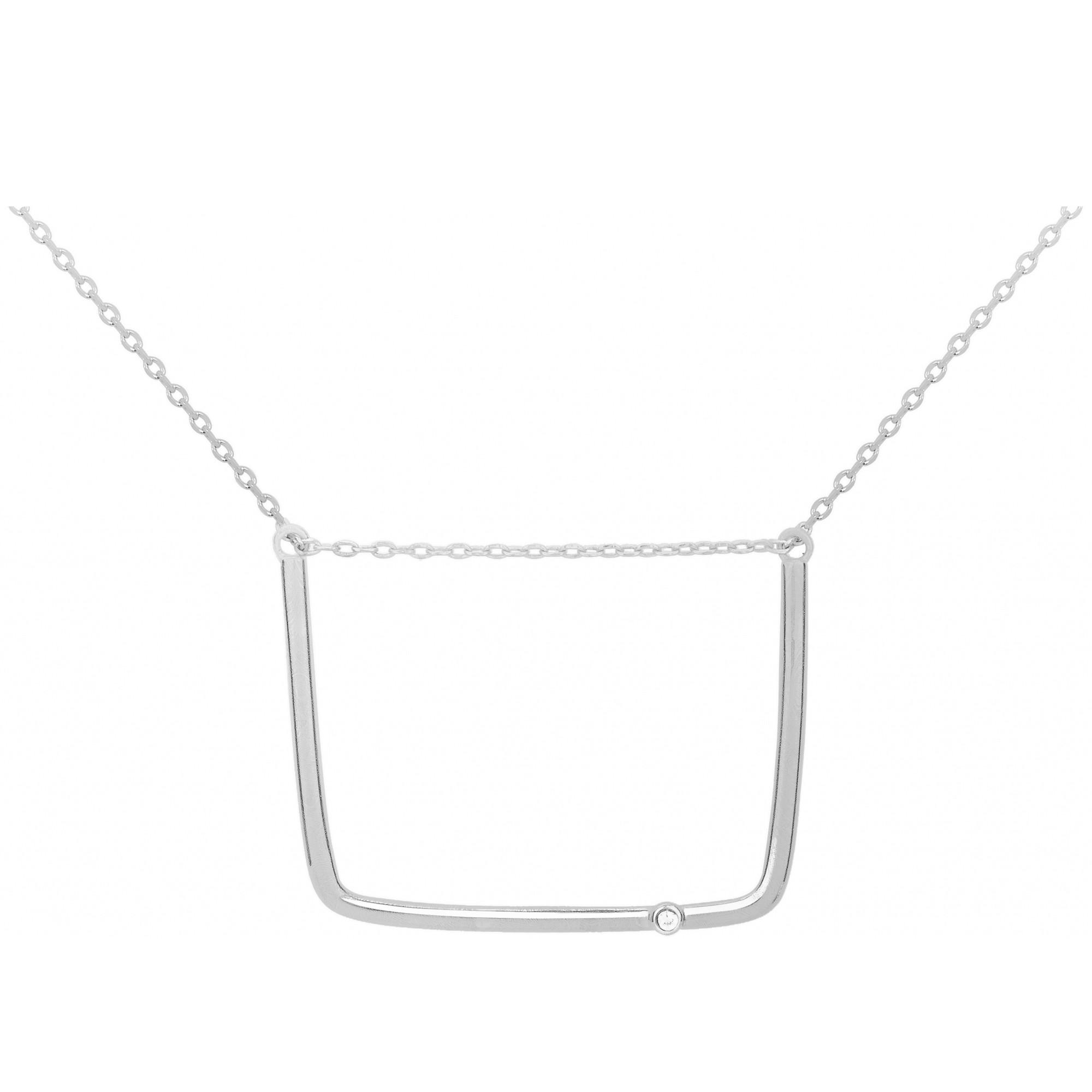 Collier « Funambule » La Garçonne Diamant en Argent et Diamant