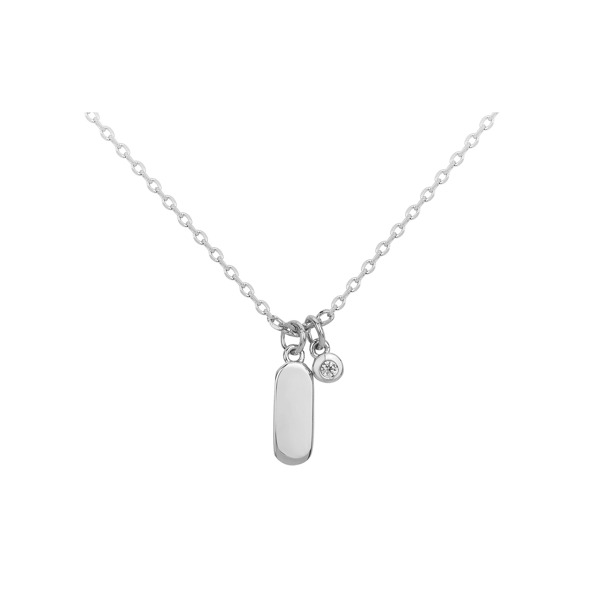 Collier « Jamais sans Toi » La Garçonne Diamant en Argent et Diamant