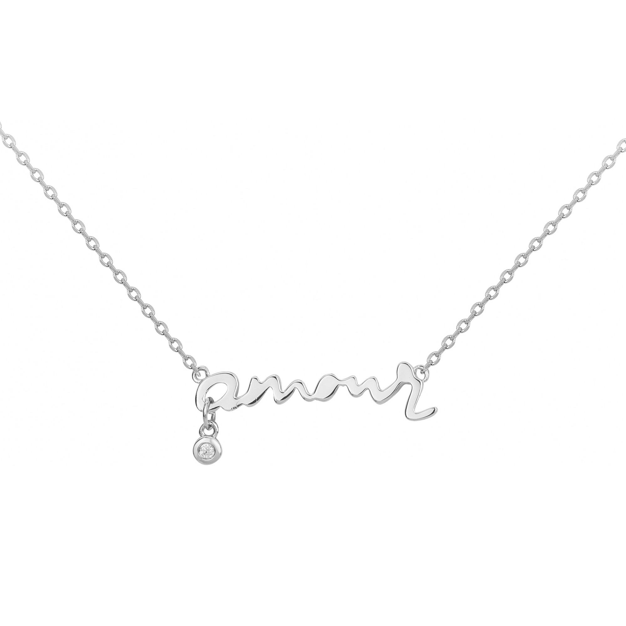 Collier « Toi, mon Amour » La Garçonne Diamant en Argent et Diamant