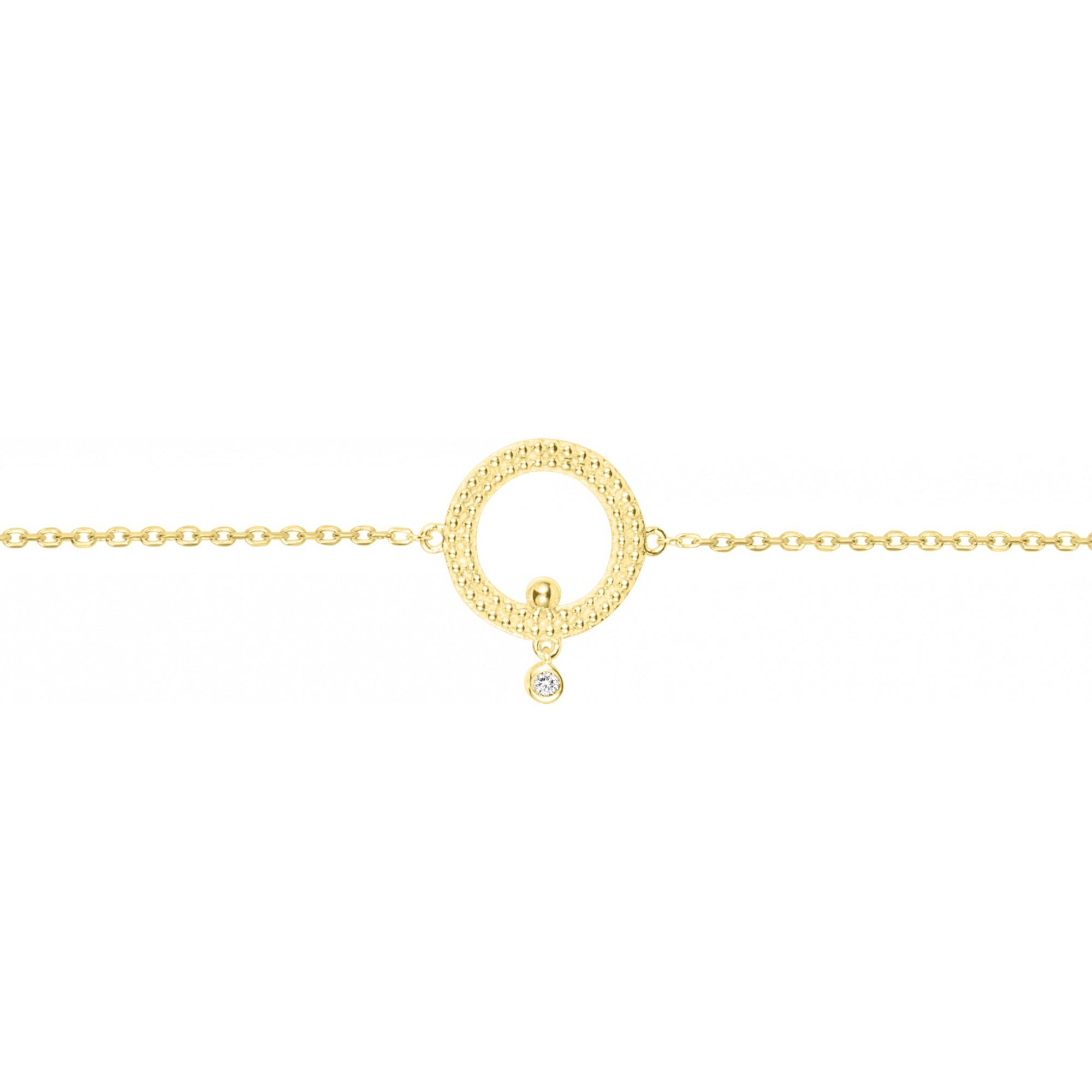 Bracelet « Éclipse de Lune » La Garçonne Diamant en Plaqué Or et Diamant