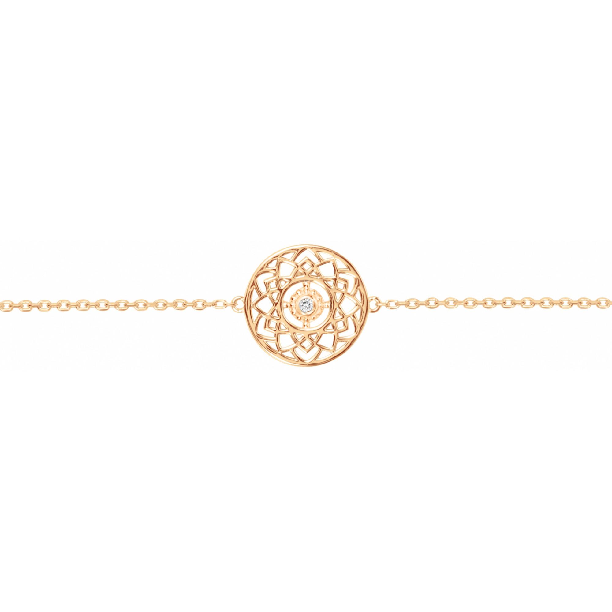 Bracelet « Petite Fortune » La Garçonne Diamant en Plaqué Or et Diamant