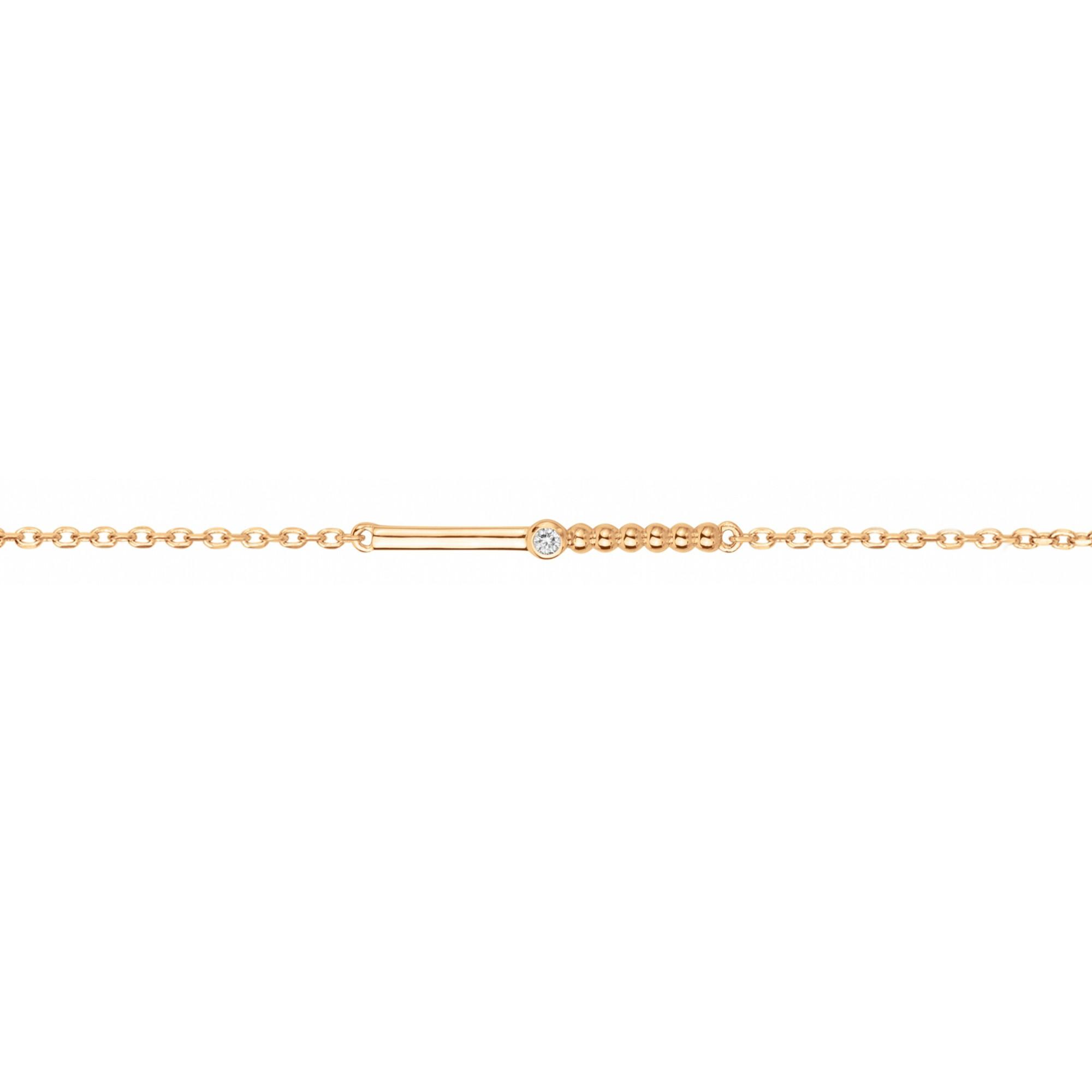 Bracelet « Indécise » La Garçonne Diamant en Plaqué Or et Diamant