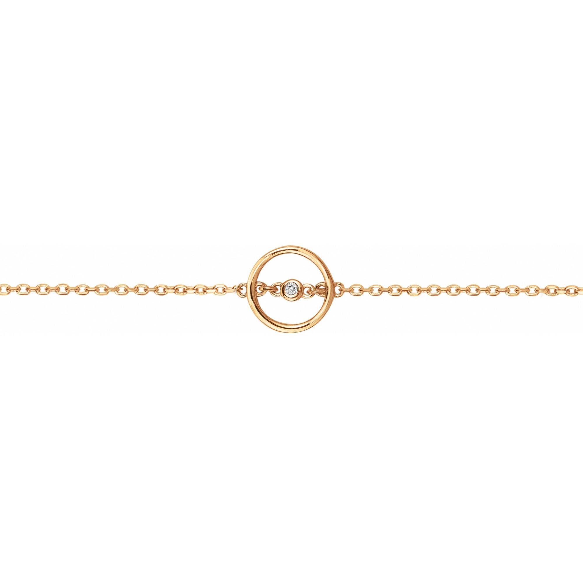 Bracelet « Angélique » La Garçonne Diamant en Plaqué Or et Diamant