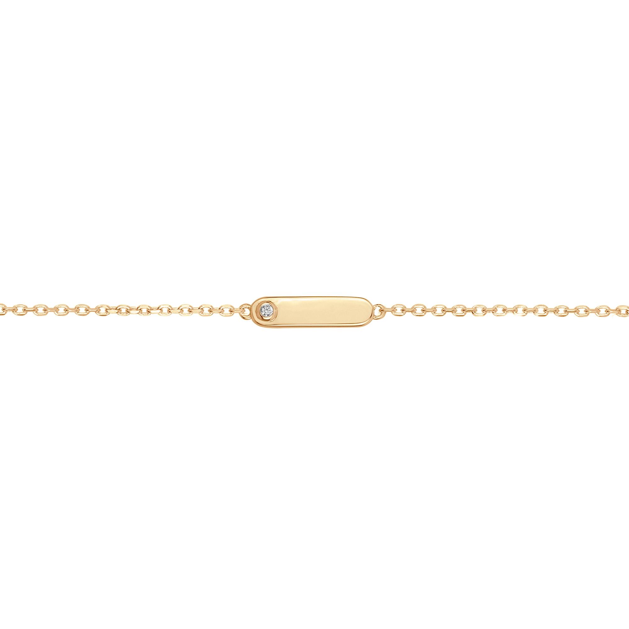 Bracelet « Addict » La Garçonne Diamant en Plaqué Or et Diamant